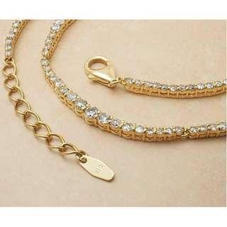 (只限3天)超特價18k5ct鑽石頸鏈