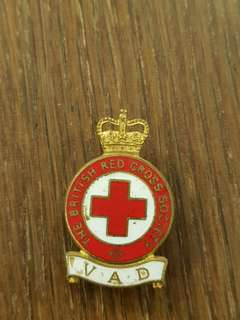 Vintage Genuine Post WW2 The  British Red Cross Society badge marked manufacturer