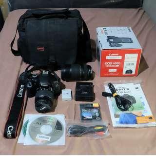 (BU) CANON EOS 600D + Kit Lens + Bonus Lensa