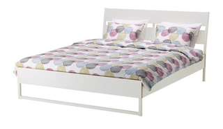 IKEA queen bed frame with FREE bedside table