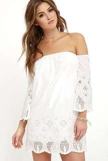 Calzedonia off shoulder eyelet dress
