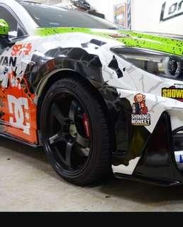 """二手 ADVAN RACING GT PREMIUM 鋁圈 18"""" 8. 5J 5x114 黑色"""