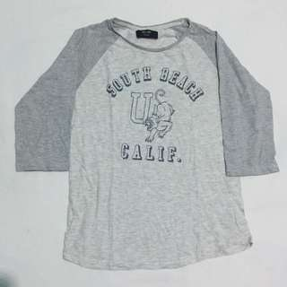 Cotton On Gray Printed Raglan
