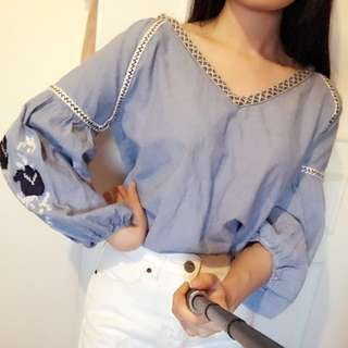 Zara Cotton linden top