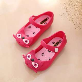 Jelly shoes pink cat new