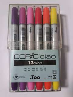Copic Ciao Markers - set of 12 basic colours