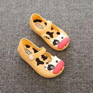 Sepatu jelly anak new yellow cow