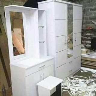 Satu set lemari +meja riad