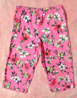 Carters baby girl floral leggings
