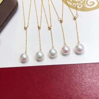 18K金akoya海水珍珠調節鏈、不發圖一直默默在出貨的一款