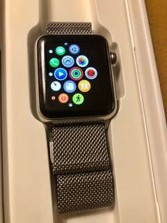 APPLE WATCH STAINLESS STEEL 38mm with Milanese strap