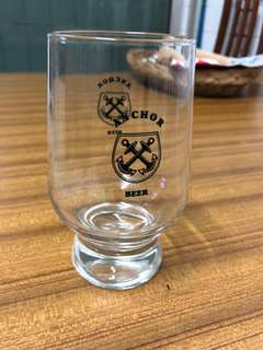 Anchor beer glasses in the 80s