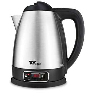 420. Amzdeal 1.8L Electric Kettle, 4 Temperature Set & 2 Keep Warm Function Brushed Stainless Steel Kettle, Boil-dry Protection and Auto Shut off Water Kettle, 1800W, BPA free- Sliver