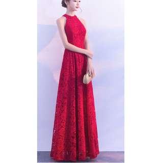 Red formal prom dress