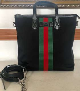 Gucci Tote Bag in Black Calfskin