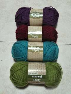 4 Seasons Marvel 12ply yarn set