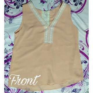 Pastel Pink sleeveless (PRELOVED)