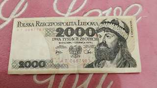 Uang poland 2000 th 1979