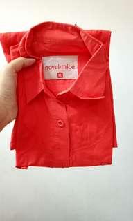 Novel n mice kemeja merah