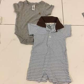 [2 items] Baby gap 3-6M romper