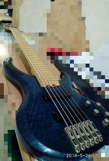 Rare Ibanez BTB bass 6 string ORI maple fretboard