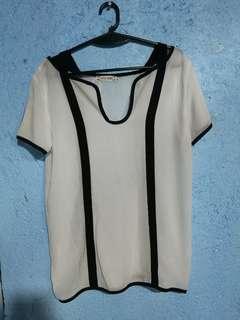 White see through blouse