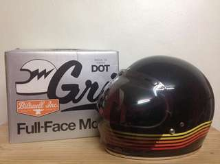 Biltwell Gringo Spectrum Limited Edition Helmet + Bubble Shield