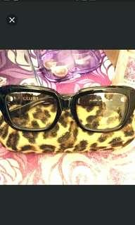 全新Celine粗框平光眼鏡