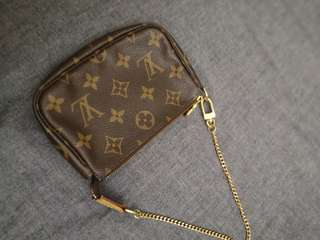 Real LV small chain wallet