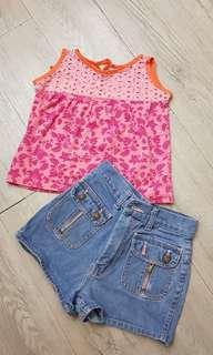 Top and shorts terno