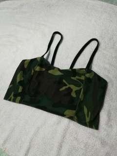 Camouflage bralette