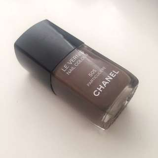 New Authentic Chanel 505 Particuliere Nail Polish Brown Creme