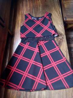 RUSH SALE! Lacy Checkered Dress