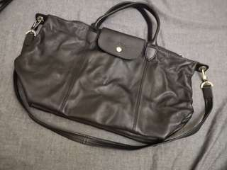 Longchamp real lamb leather bag