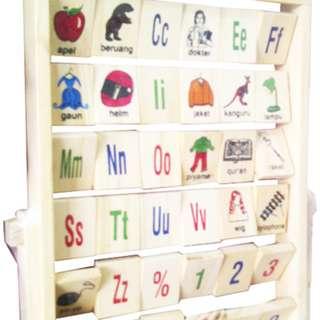 Mainan Edukasi Anak WOODEN ALPHABET INDONESIA