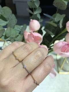 18K 850 鑽石戒指