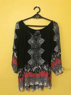 Black boho shirt