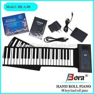 Portable Piano Keyboard Roll-up 61 Keys