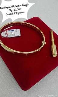 Saudi Gold 18k Cartier Bangle Small