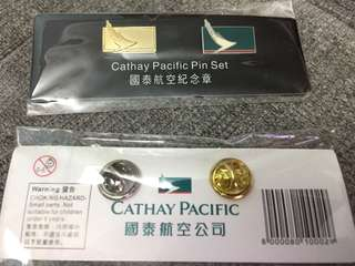 Cathay Pacific Logo Pin Set CX 國泰航空紀念章襟章