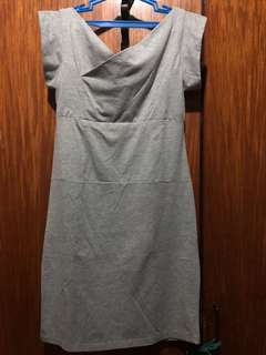 folded and hung gray dress