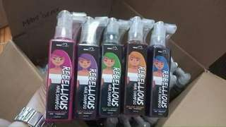 Rebellious hair color shampoo