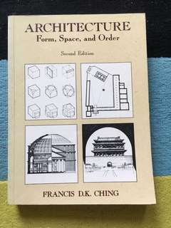 Architecture book : Form space and Order. By Francis Ching