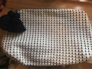 Zara knit clutch