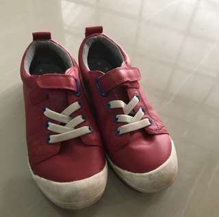 [readystock] USED Marks & Spencer red Leather Shoes (size UK12 -kids)