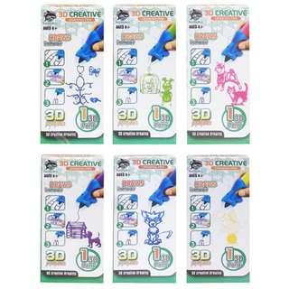 Mainan Edukasi Anak 3D CREATIVE DRAWING PEN - 8801-1