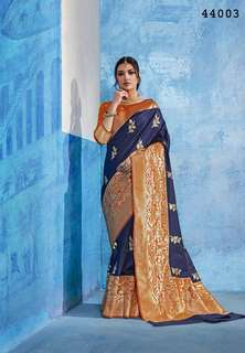 Spellbinding Silk Embroidered Party Wear Saree