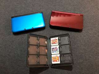 (PRICE FOR 2 CONSOLES!!!)3DS XL console(2pcs) + Pokemon Games(3pcs)