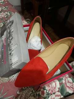 Shoe Avenue - Red Flat Shoes