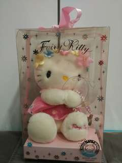 NEVER OPENED UP AND USED! Limited Edition Hello Kitty Millenium Celebration Fairy Kitty Commemorative Soft Toy and Watch